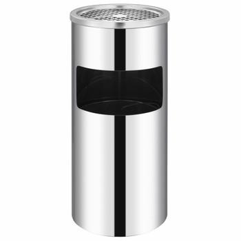 vidaXL Zidna kanta za smeće s pepeljarom od nehrđajućeg čelika 26 L