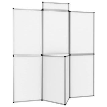 vidaXL Sklopivi izložbeni zid s 8 ploča i stolićem 181 x 200 cm bijeli