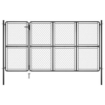 vidaXL Vrtna vrata čelična 175 x 350 cm antracit