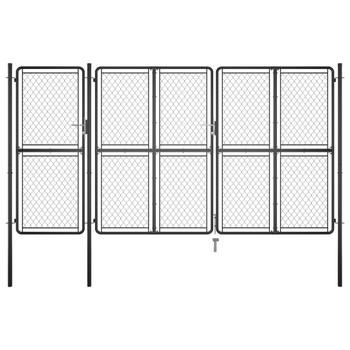 vidaXL Vrtna vrata čelična 200 x 395 cm antracit