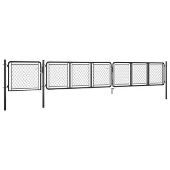vidaXL Vrtna vrata čelična 75 x 495 cm antracit
