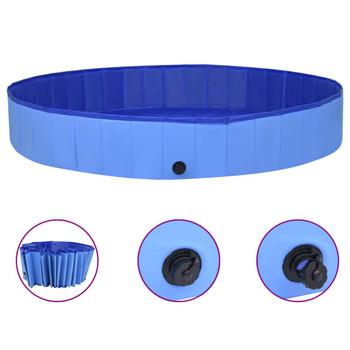 vidaXL Sklopivi bazen za pse plavi 300 x 40 cm PVC