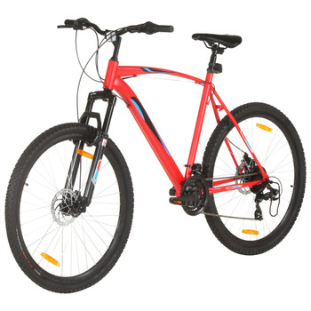 """vidaXL Brdski bicikl 21 brzina kotači od 29 """" okvir od 53 cm crveni"""