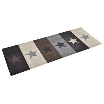 vidaXL Kuhinjski tepih s uzorkom zvijezda perivi 60 x 180 cm
