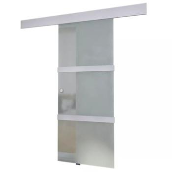 vidaXL Klizna vrata od stakla i aluminija 178 cm srebrna