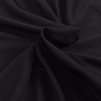 vidaXL Rastezljiva Presvlaka za Kauč Crna Poliesterski žersej