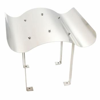 vidaXL Kapa za dimnjak od nehrđajućeg čelika srebrne boje