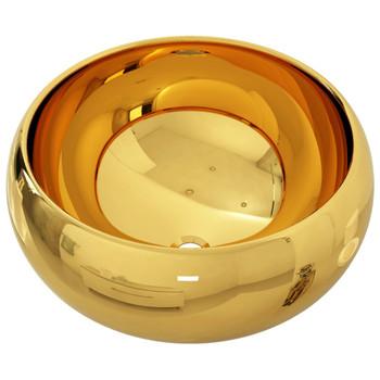 vidaXL Umivaonik 40 x 15 cm keramički zlatni