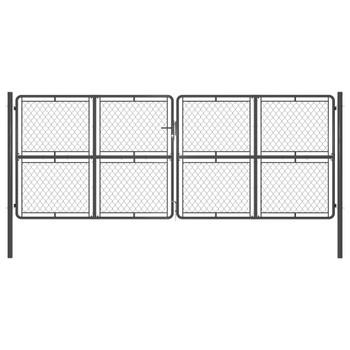vidaXL Vrtna vrata čelična 400 x 150 cm antracit