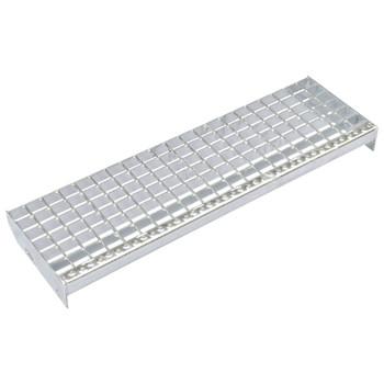 vidaXL Gazišta za stepenice 4 kom od pocinčanog čelika 600 x 240 mm