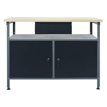 vidaXL Radni stol crni 120 x 60 x 85 cm čelični