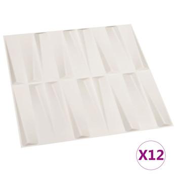 vidaXL Zidni paneli 3D 12 kom 0,5 x 0,5 m 3 m²