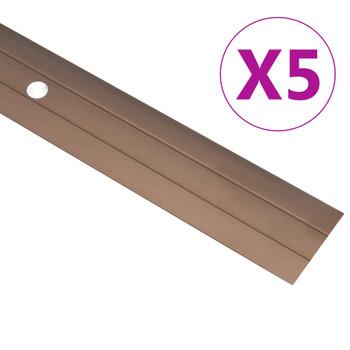 vidaXL Podni profili 5 kom aluminijski 90 cm smeđi