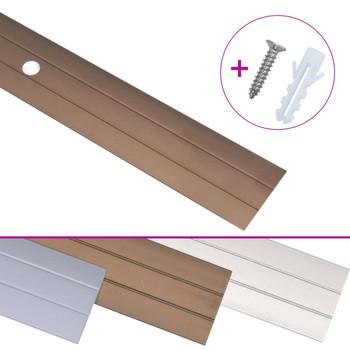 vidaXL Podni profili 5 kom aluminijski 100 cm smeđi