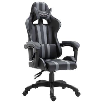 vidaXL Igraća stolica od umjetne kože siva