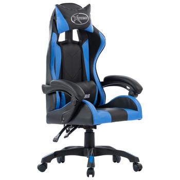vidaXL Igraća stolica od umjetne kože plava