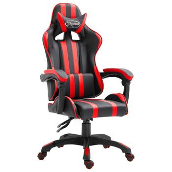 vidaXL Igraća stolica od umjetne kože crvena