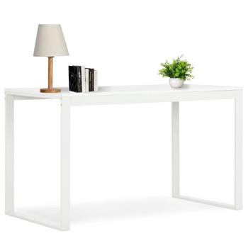 vidaXL Stol za računalo bijeli 120 x 60 x 73 cm