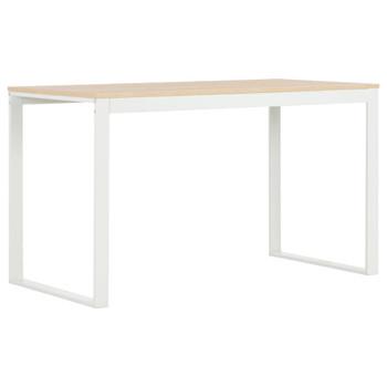 vidaXL Stol za računalo bijeli i boja hrasta 120 x 60 x 73 cm