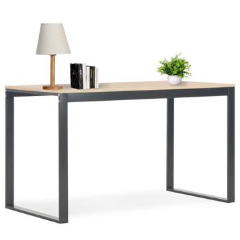 vidaXL Stol za računalo crni i boja hrasta 120 x 60 x 73 cm
