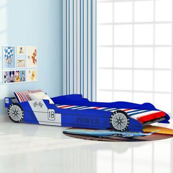 vidaXL Dječji Krevet Trkaći Auto 90x200 cm Plavi
