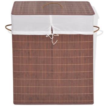 vidaXL Košara za rublje od bambusa pravokutna smeđa