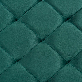 vidaXL Klupa od zelene baršunaste tkanine i nehrđajućeg čelika 97 cm