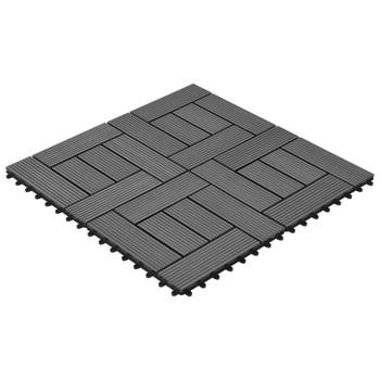 vidaXL Pločice za trijem 22 kom 30 x 30 cm 2 m² WPC sive