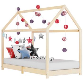 vidaXL Okvir za dječji krevet od masivne borovine 80 x 160 cm