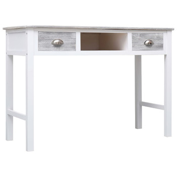 vidaXL Pisaći stol sivi 110 x 45 x 76 cm drveni
