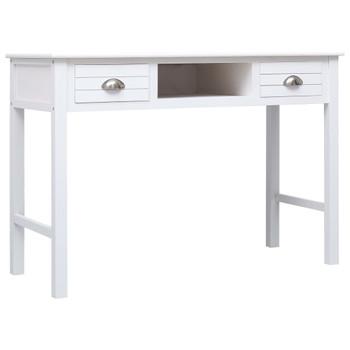vidaXL Pisaći stol bijeli 110 x 45 x 76 cm drveni