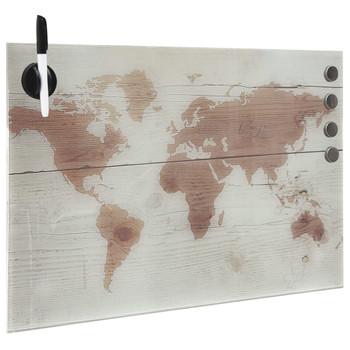 vidaXL Zidna magnetna ploča od stakla 50 x 30 cm
