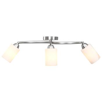 vidaXL Stropna svjetiljka s keramičkim sjenilima 3 žarulje E14 bijela