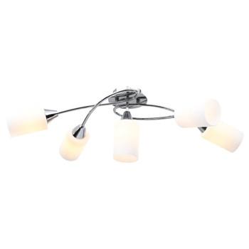 vidaXL Stropna svjetiljka s keramičkim sjenilima 5 žarulja E14 bijela