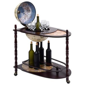 vidaXL Samostojeći stalak za vino u obliku globusa drvo eukaliptusa