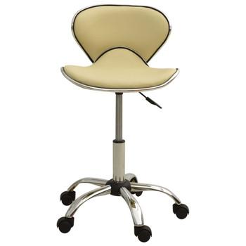 vidaXL Salonski stolac od umjetne kože krem