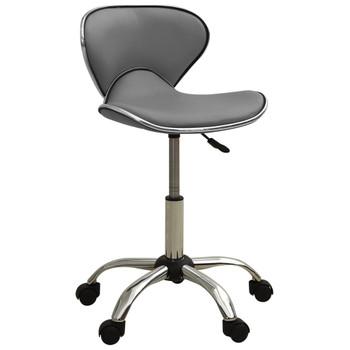 vidaXL Salonski stolac od umjetne kože sivi