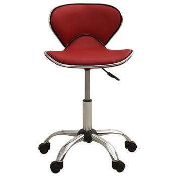 vidaXL Salonski stolac od umjetne kože crvena boja vina