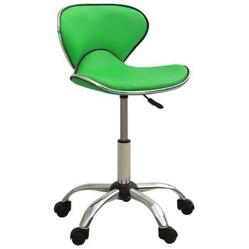 vidaXL Salonski stolac od umjetne kože zeleni