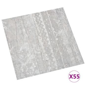vidaXL Samoljepljive podne obloge 55 kom PVC 5,11 m² sive