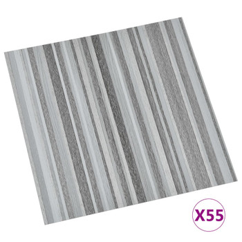 vidaXL Samoljepljive podne obloge 55 kom PVC 5,11 m² svjetlosive