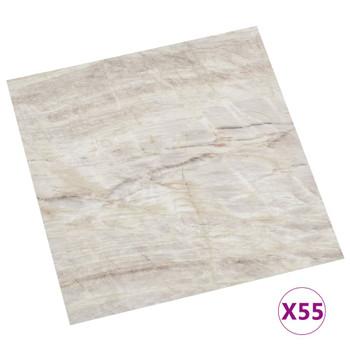 vidaXL Samoljepljive podne obloge 55 kom PVC 5,11 m² bež