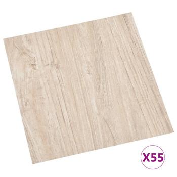 vidaXL Samoljepljive podne obloge 55 kom PVC 5,11 m² svjetlosmeđe