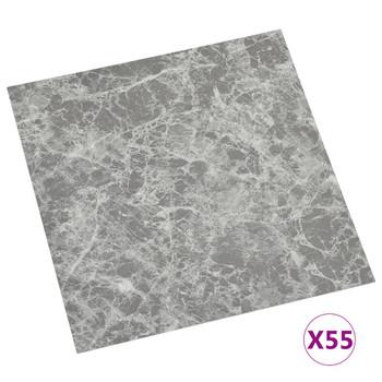 vidaXL Samoljepljive podne obloge 55 kom PVC 5,11 m² siva boja betona