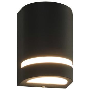 vidaXL Vanjske zidne svjetiljke 2 kom 35 W crne polukružne