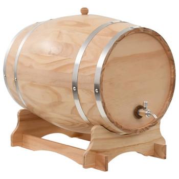 vidaXL Bačva za vino sa slavinom od masivne borovine 35 l