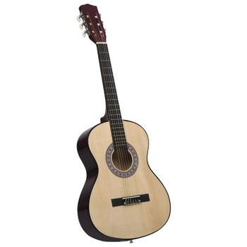 """vidaXL Klasična gitara za početnike 4/4 39"""" od drva lipe"""