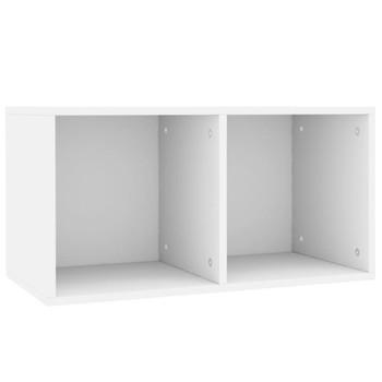 vidaXL Kutija za pohranu vinilnih ploča bijela 71x34x36 cm od iverice