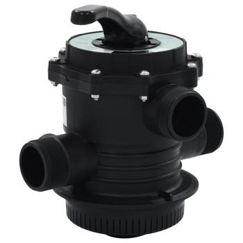 "vidaXL Višeputni ventil za pješčani filtar ABS 1,5 "" 6-putni"