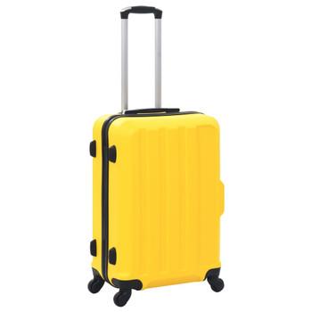 vidaXL 3-dijelni set čvrstih kovčega žuti ABS